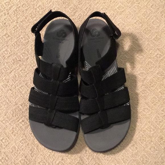 864b504ef5a Clark Cloudsteppers Sandals Black